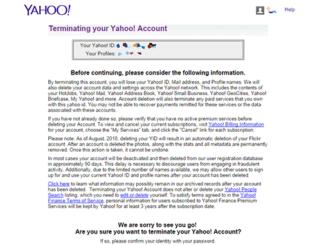 Delete Account Yahoo Mail