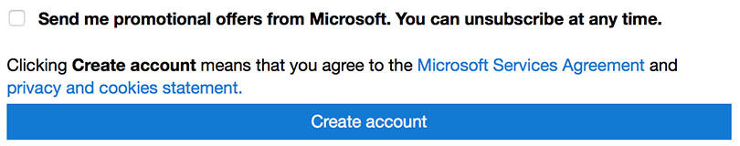 Account Create Hotmail