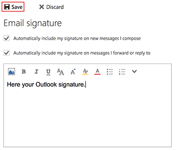 Add email signature in Gmail