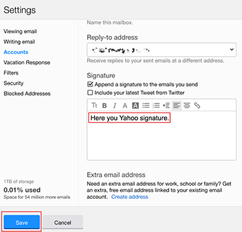 Create Yahoo Signature